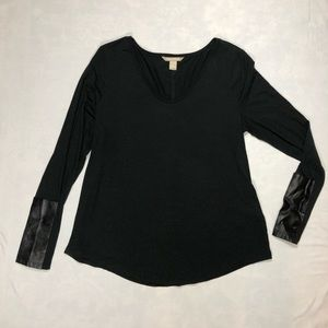 Banana Republic Long Sleeve Black Top